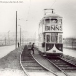 Sunderland Tram No. 26, Durham Road, April 28th 1950